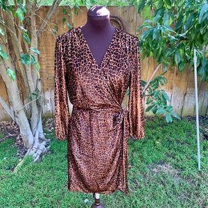 J Crew Leopard Print Wrap Dress